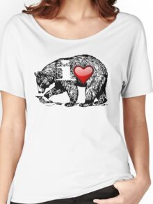 I LOVE BEAR Women's Relaxed Fit T-Shirt