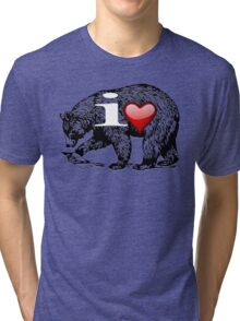 I LOVE BEAR Tri-blend T-Shirt