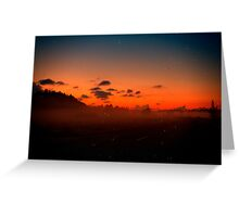 Sunset Yet Again. Greeting Card