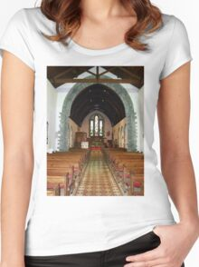 St Eunan 's Cathedral Raphoe, Donegal, Ireland Women's Fitted Scoop T-Shirt