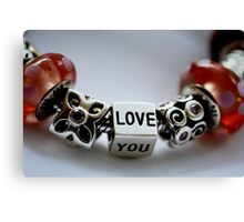 Love you with colour Canvas Print