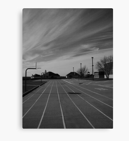 The Sky And The School Canvas Print