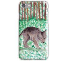 wolf illustration iPhone Case/Skin