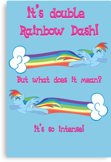 Double Rainbow Dash by Nana Leonti