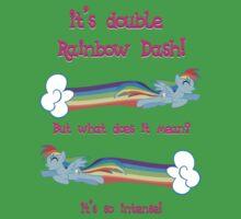 Double Rainbow Dash Kids Clothes