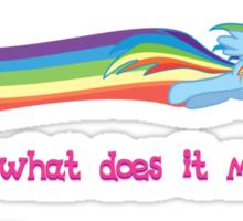 Double Rainbow Dash Sticker