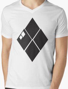 Black Dyemin Mens V-Neck T-Shirt