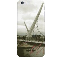 Derry Peace Bridge -  Derry Ireland iPhone Case/Skin