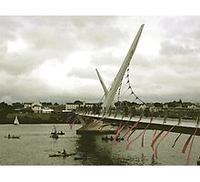 Derry Peace Bridge -  Derry Ireland Photographic Print