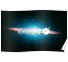NodeJs Sombrero Galaxy Poster