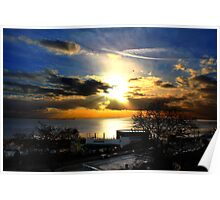 Sun burst over Southend  Poster