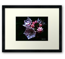 Abstract Mountain Flora Framed Print