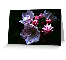 Abstract Mountain Flora Greeting Card