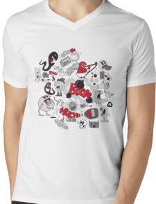 BOW! Mens V-Neck T-Shirt