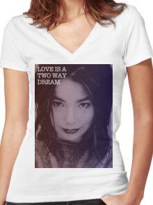 Bjork's Dream Women's Fitted V-Neck T-Shirt