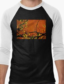 Backlit Branch Men's Baseball ¾ T-Shirt