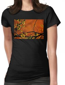 Backlit Branch Womens Fitted T-Shirt