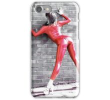 Red Catsuit Girl iPhone Case/Skin