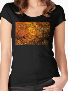 Backlit Branch II Women's Fitted Scoop T-Shirt