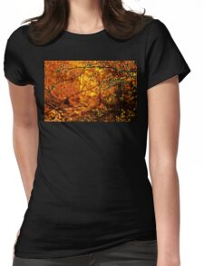 Backlit Branch II Womens Fitted T-Shirt