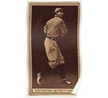 Benjamin K Edwards Collection Tex Covington Detroit Tigers baseball card portrait Poster