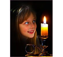 Candle Glow Photographic Print