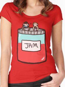 Sherlock, John, and Jam Women's Fitted Scoop T-Shirt