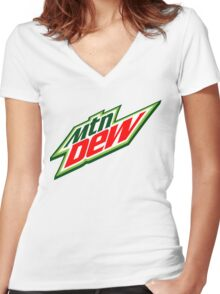 Mountain Dew  Women's Fitted V-Neck T-Shirt