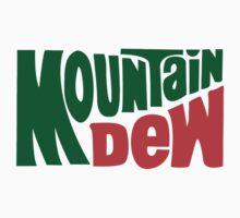 Mountain dew text logo One Piece - Short Sleeve