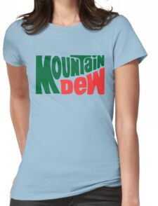 Mountain dew text logo Womens Fitted T-Shirt