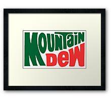 Mountain dew text logo Framed Print
