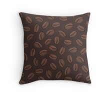 Dark Coffee Beans Throw Pillow