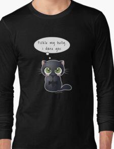 Black Cat Dares You Long Sleeve T-Shirt