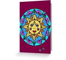 SUN & LOTUS MANDALA ☮ Greeting Card