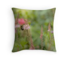 Bee in the Meadow  Throw Pillow
