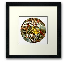 Smile, You Old Sap! Humorous Nature Spin Framed Print