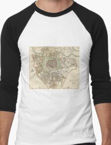 Vintage Map of Vienna Austria (1833) Men's Baseball ¾ T-Shirt