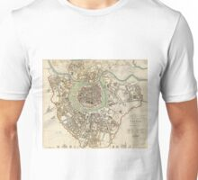 Vintage Map of Vienna Austria (1833) Unisex T-Shirt