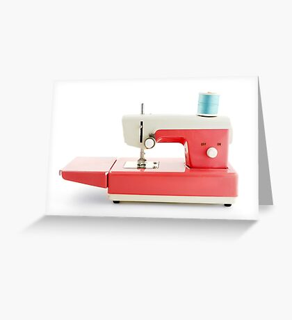 toy sewing machine Greeting Card