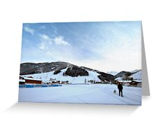 Austria midday sky Greeting Card