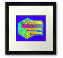 Retro-80s Abstracts With Stars Framed Print