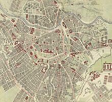 Vintage Map of Vienna Austria (1883) by BravuraMedia