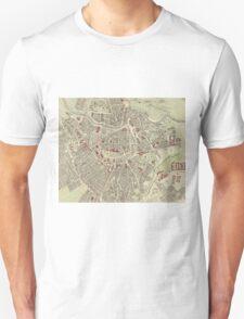 Vintage Map of Vienna Austria (1883) T-Shirt