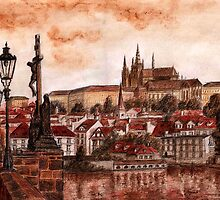 Panoramic Prague by Varvara Drokova