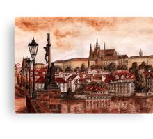 Panoramic Prague Canvas Print