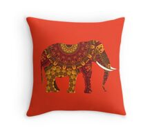 Ornate Decorated Indian Elephant Throw Pillow