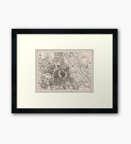 Vintage Map of Vienna Austria (1906) Framed Print