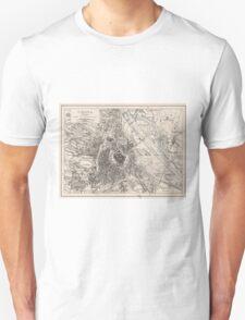 Vintage Map of Vienna Austria (1906) Unisex T-Shirt