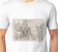 Vintage Map of Vienna Austria (1906) Unisex T-Shirt