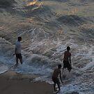 Taking a Bath in troubled Water  - Bañandose en aguas revueltas by PtoVallartaMex